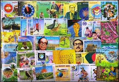 BANGLADESH-425 All Different Used & Mint Stamps-Large & Small Thematic Stamps