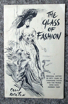 1950s Cecil Beaton Book Flyer - The Glass of Fashion