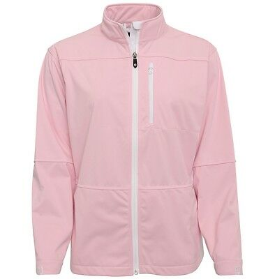 Footjoy Ladies Womens Full Zip Soft Shell Jacket Pink