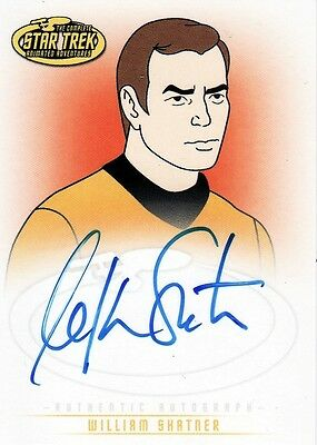 Star Trek Animated Adventures William Shatner as Captain Kirk A1 Auto Card