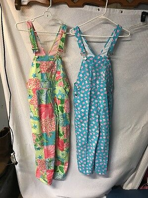 Lot Of 2 Girls Sz 10 Lilly Pulitzer Overalls