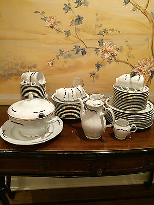 Tiffany By Baum Brothers Vintage Fine Porcelain Set 72 Pc