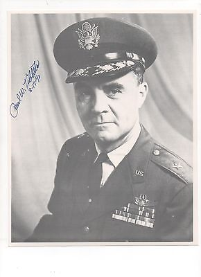 Enola Gay (Hiroshima) STUNNING 8x10 Glossy of Paul Tibbets BOLDLY Autographed A+