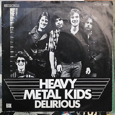 7'Heavy Metal Kids >Delirious/Docking in< Germany GLAM/PUNK