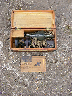 "Vintage Thomas Walker & Son ""Excelsior"" IV Patent Log Boat Yacht Lifeboat in Box"