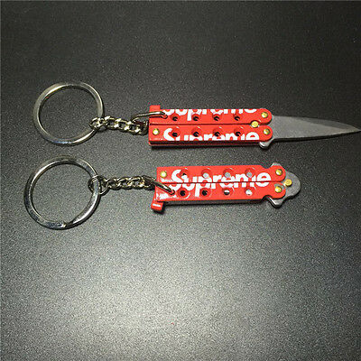 2016 NEW Spot shipping Supreme butterfly knife butterfly keychain