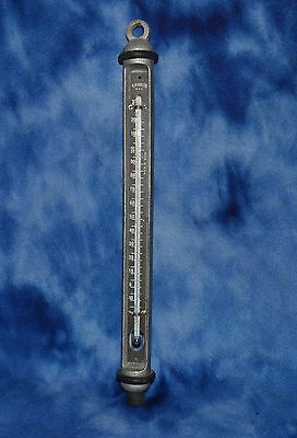 VINTAGE G.M. MFG. CO. NYC LARGE INDUSTRIAL THERMOMETER Cast Metal Steampunk RARE