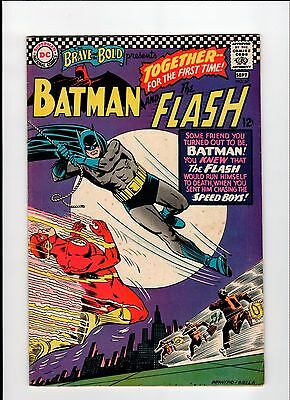 DC BRAVE AND THE BOLD #67 Batman and Flash 1966 VG/FN Vintage Comic