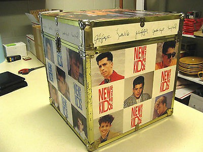 1990 New Kids On The Block Vintage Trunk Chest Storage Box 15.5 X 15.5 X 16.25""