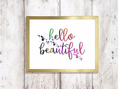 rise and shine Print quote glossy poster a4 paint splatter picture unframed 4 3