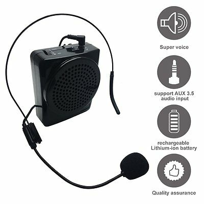 Voice Amplifier, Soled Rechargeable Loud Speaker, Portable Microphone With Waist