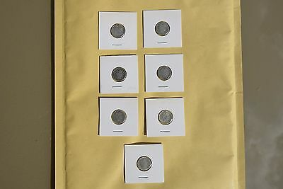 U.S.A. lot of 7 coins Dimes Silver  1873-1912