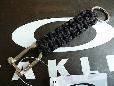 NEW! Oakley PARACORD Keychain Black Military Survival 99413-106