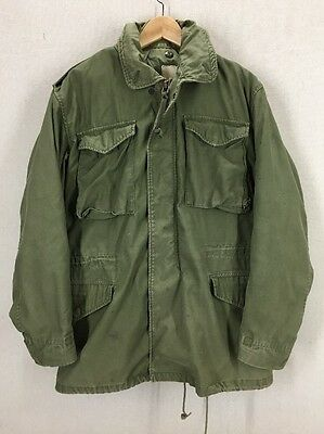 Vintage 70's US Army M-65 Green Field Jacket Sz Small Long