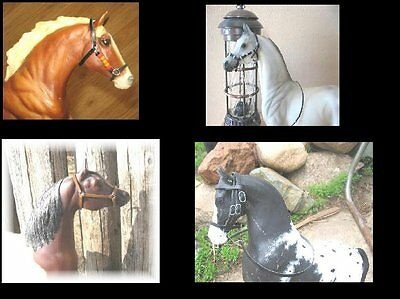 Breyer horse custom  tack lot #2 halters one bridle
