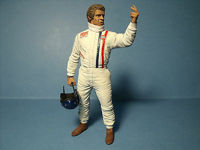 Steve  Mc Queen  1/18  Unpainted  Figure   Made  By  Vroom   For   Autoart