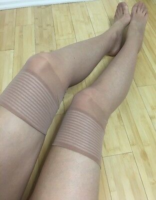 Vintage Women's Stockings Tights Sheer Nude Thigh Highs Hosiery Pantyhose