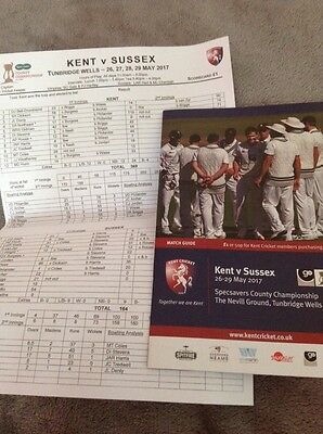 KENT v SUSSEX + DAY 4 SCORECARD COUNTY CHAMPIONSHIP 2017