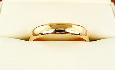 (3.95g) Antique 22ct Gold Wedding Band / Ring (M) 22k 916