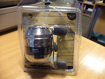 Outdoor Angler Spincast Reel 3.3.1 Gear Ratio 2 Ball Bearings! New Sealed!