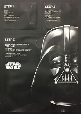 The Face Shop X Star Wars Aqua Refreshing Black Face Mask 1 Sheet