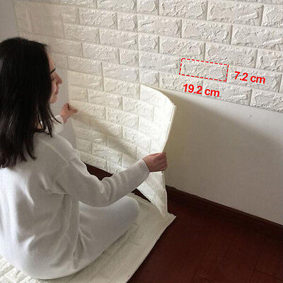 3D Creative Brick Pattern Wallpaper Waterproof Wall Sticker Home Decor 60x60cm