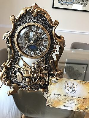 Cogsworth Live Action Limited Edition Clock - Beauty and the Beast New With Box