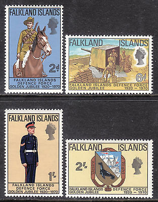Falkland Islands #188-191, 1970 Set/4, Vf, Mint Nh