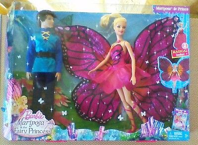 BARBIE Mariposa & The Fairy Princess MARIPOSA & PRINCE Collectible Doll Set-NEW