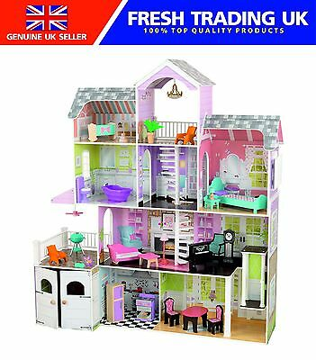 KidKraft Grand Estate Wooden Barbie Doll House - 26 Piece Set