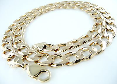 """(67.33g) Very Heavy 9ct Gold Curb Chain (21"""") Hallmarked Necklace 9k 375"""