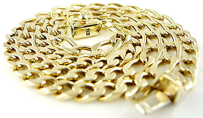 """(17.82g) 9ct Solid Gold Curb Link Chain (18"""") Hallmarked Necklace 9k 375"""