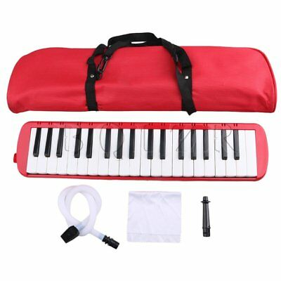 Red BQLZR 37 Piano Keys Melodica Pianica W/ Easy Carrying Bag for Students