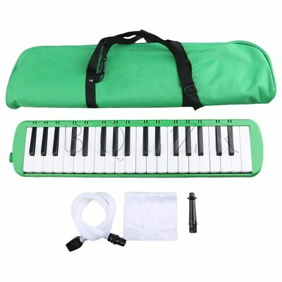 Green BQLZR 37 Piano Keys Melodica Pianica W/ Easy Carrying Bag for Students