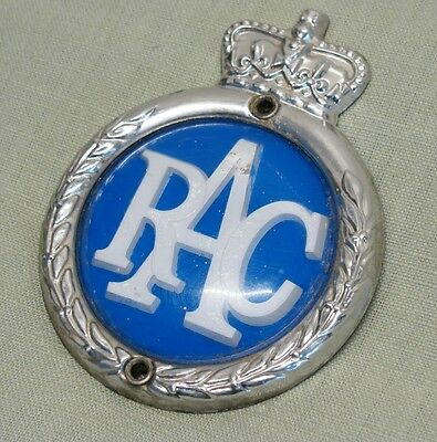 Vintage 50's RAC Royal Automobile Club Classic Car Grille Badge Emblem Mascot