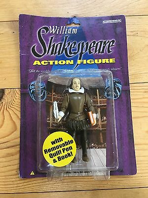William Shakespeare Action Figure With Removalbe Quill Pen & Book 2003