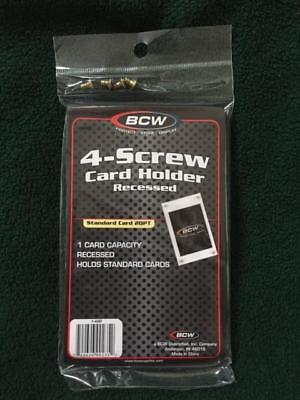(1) New BCW 4 Screw Recessed Baseball Trading Card Holders screwdown Protectors