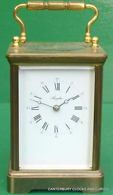 L'epee Grande Corniche French 8 Day Angelus Carriage Clock