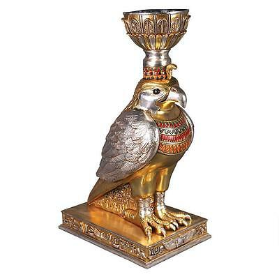 Horus The Egyptian Winged Falcon God Of Divine Order Sculptural Urn Hand Painted