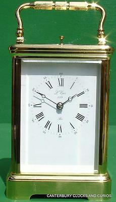 L'epee Grande Corniche French 8 Day Striking Repeater Carriage Clock