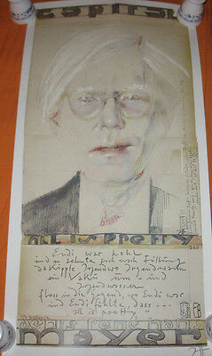Horst Janssen Handsigniert Andy Warhol all is pretty