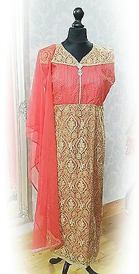 Readymade bollywood style indian asian designer straight suit dress