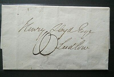 UK 1824 stampless cover in great condition