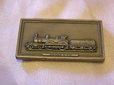 SOLID PEWTER INGOT of the ADAMS 4-4-0 LOCOMOTIVE
