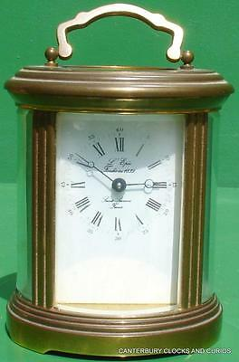 L'epee Vintage French 8 Day Oval Timepiece Carriage Clock
