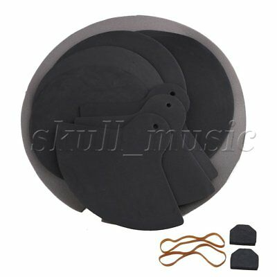 BQLZR High Flexibility Elasticity Rubber Foam Jazz Drum Practice Mute Silencer