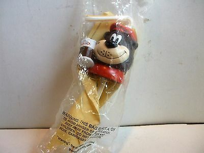 "A&w ""rooty The Root Beer Bear"" Character Vinyl Straw Nip Htf Rare"