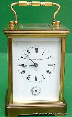 Matthew Norman 1750 Swiss 8 Day Striking Alarm Grande Corniche Carriage Clock