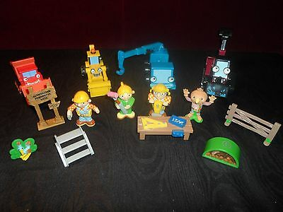 Bob the builder figurines and vehicles lot Scoot Benny Muck crane and more