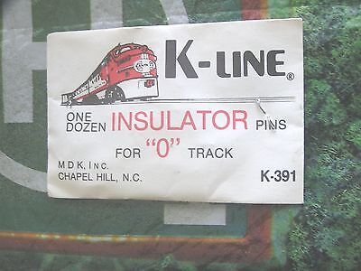 "K-Line Train Track  Insulator Pins One Dozen For ""o"" Track  K-391 //  Nos"